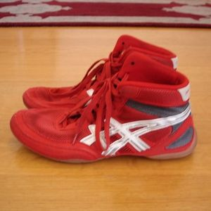 ASICS J100N Men Sz 11 Matflex Red Wrestling Shoes